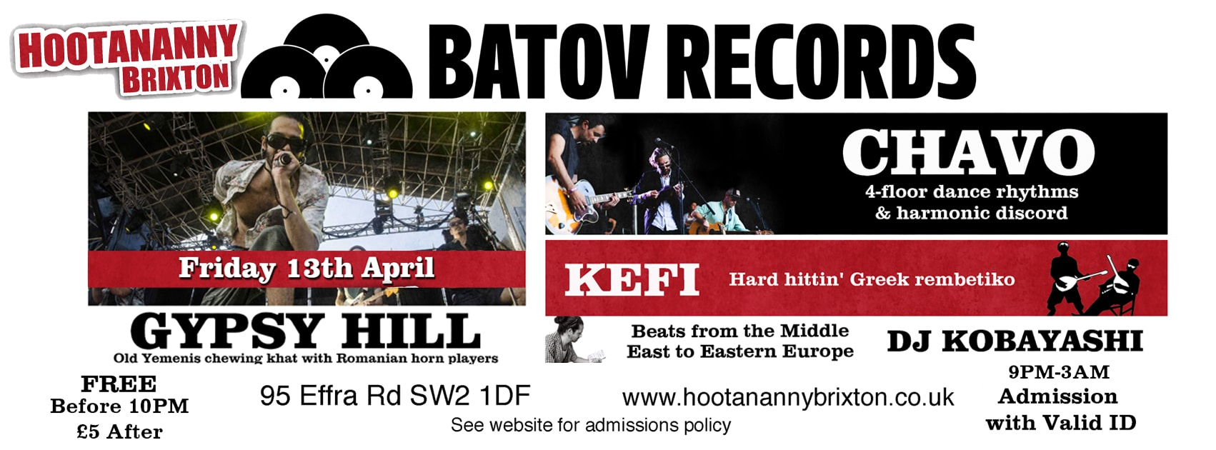 Batov Records at Hootanany