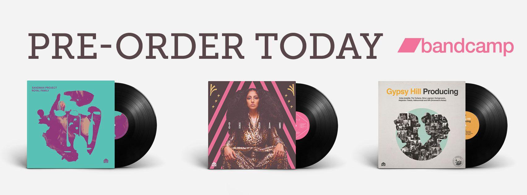Gypsy Hill, Sandman Project & S H I R A N Vinyl pre-order banner