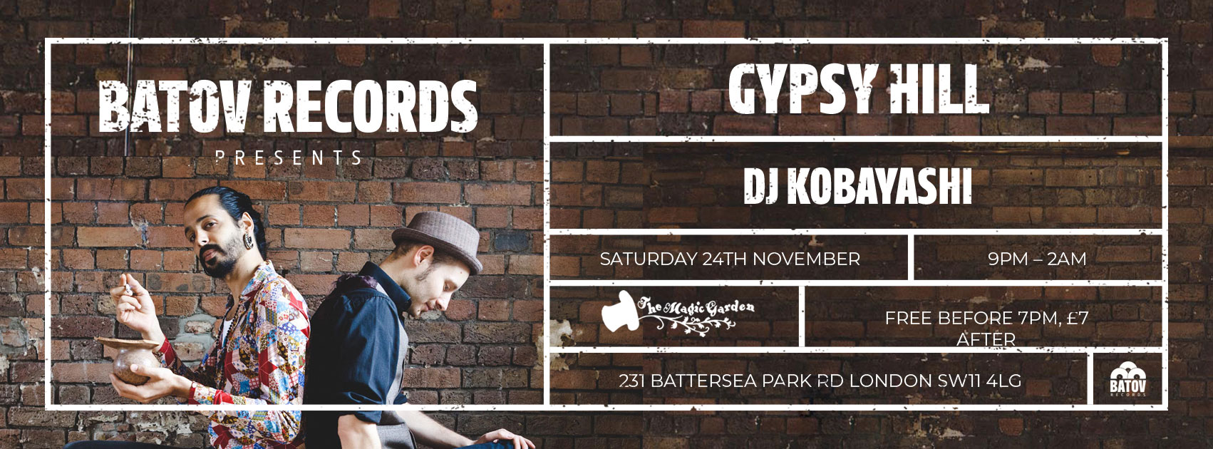 Batov Records Presents: Gypsy Hill and DJ Kobayashi 3