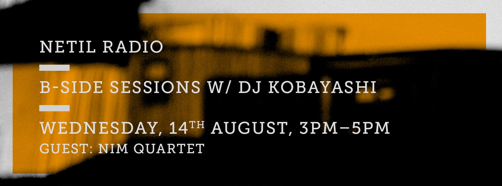 B-Side Sessions at Netil Radio w/DJ Kobayashi / Nim Sadot 1