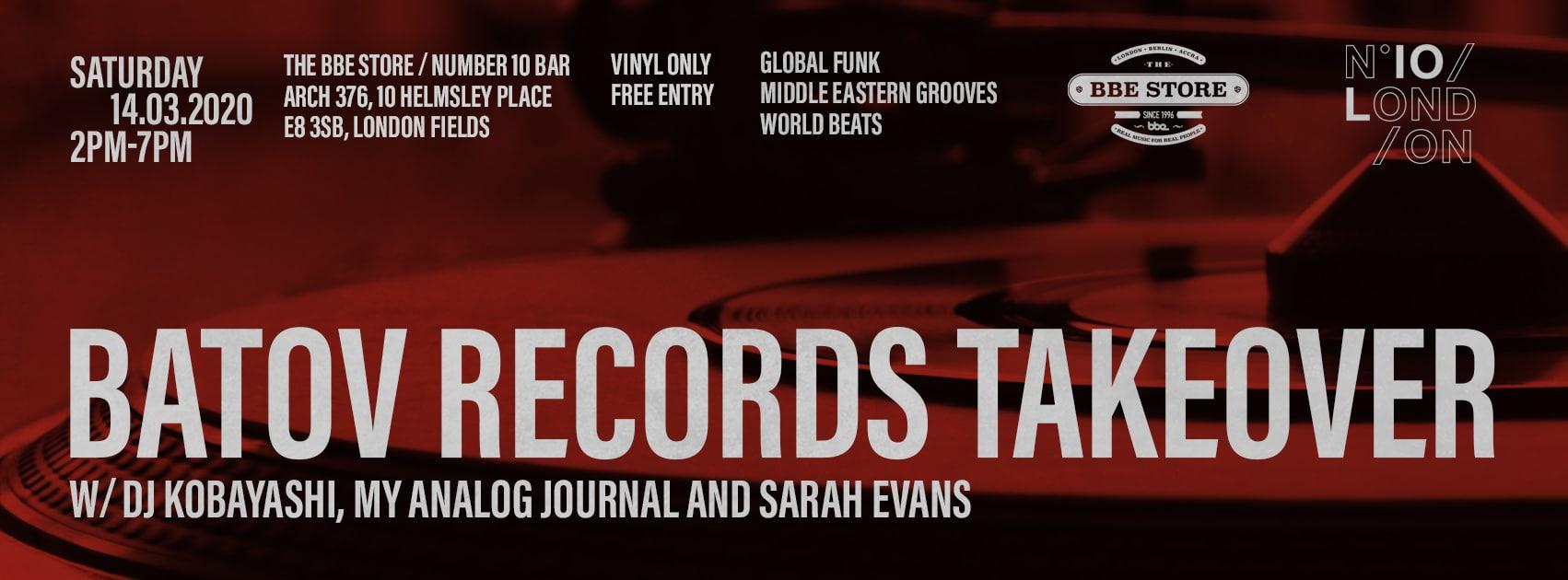 The BBE Store Batov Records takeover